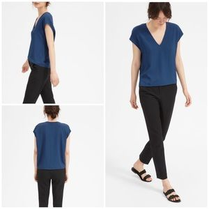 NWT Everlane The Japanese GoWeave Boxy V-Neck Top
